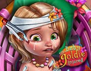 Bebê Goldie Machucada