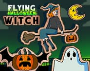 Vôo da Bruxa de Halloween